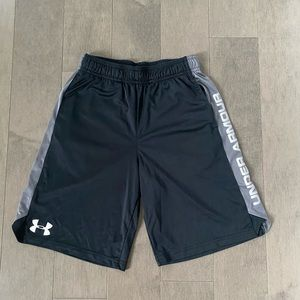 Youth Boys Medium Under Armour Black & Gray Shorts